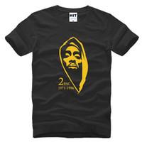 Wholesale Thug Life Tupac PAC Hip Hop Rock Rap Mens Men T Shirt Tshirt New Short Sleeve Cotton T shirt Casual Tee Camisetas Hombre