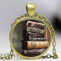 american writers book - Stack of Antique Books Pendant Necklace Book Jewelry Necklace Gift for Reader or Writer