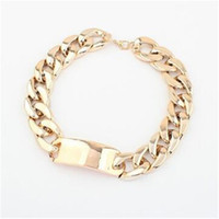 aluminum gifts for women - Luxury Jewelry Silver Gold Punk Style for Women Golden Aluminum Alloy Link ID Chunky Chain Choker Short Necklace for Women Party Wear