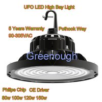 Wholesale 5 Years Warranty UFO LED High Bay Light Philips Chip LED Industrial Lamp lm w LED Flood Light CE Driver VAC w w w w