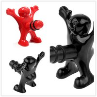 bar wine storage - New Creative Happy Man Bottle Plugs Little Red Men Spoof Wine Lid Stoppers Funny Sealed Storage Kitchen Bar Tools B0936