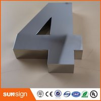 Wholesale 0 Modern D House Numbers D mirror polished stainless steel house numbers sign