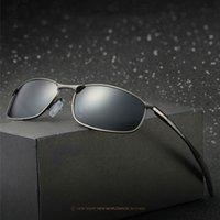 al por mayor estructura de metal para hombre de las gafas de sol de las gafas-2017 El nuevo Mens del diseño se divierte los vidrios de conducción polarizados UV400 de los marcos del metal de las gafas de sol de los espejos Refrescar bastante los anteojos frescos Venta caliente