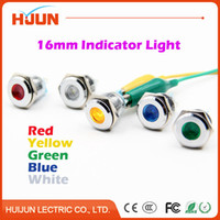 Wholesale mm Waterproof Metal Domed Round Indicator LED Lamp Signal Pilot Light Colourful Red Yellow Blue Green White