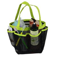 Wholesale Portable Storage Shower Caddy Mesh Quick Dry Travel Tote Bag Carry Handle Bag