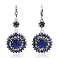 Wholesale New earrings retro European and American bohemian national wind earrings sunflower earrings