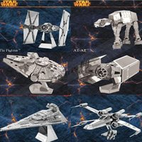 Wholesale Fedex DHL Free DIY D Models toys Star wars ATAT Tie Fighter Kits Metallic Nano Puzzle no glue required For adult Chirstmas gift Z700
