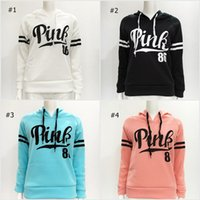 Wholesale Women Pink Letter Hoodie VS Pink Pullover Tops VS Brand Shirt Coat Sweatshirt Long Sleeve Casual Sweater Fashion Hooded Coat Plus Size