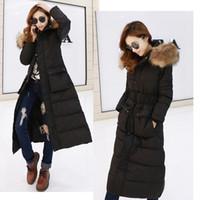 Wholesale Winter Women Fashion Long Thick Warm Down Cotton Jacket Women Plus Size High Quality Fur Collar Slim Coat Women Overcoat Parka