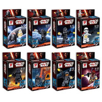 Wholesale Star Wars Figures Block Toys with Packaging Box Awakening Force Minifigures Kid Set of Anime Action Figure Kids Block Toy