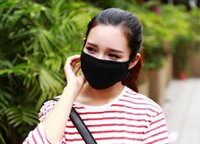 Wholesale Anti Dust Cotton Mouth Face Mask Unisex Man Woman Cycling Wearing Black Fashion High quality LLFA