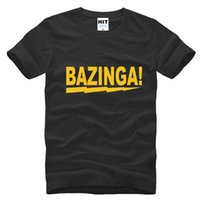 bazinga tee shirt - 2017 new fashion The Big Bang Theory Sheldon Bazinga Printed Mens Men T Shirt Fashion T shirt Cotton Tshirt Tee