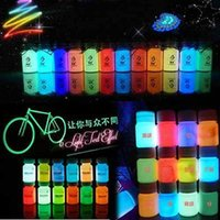 neon paint - ml Graffiti DIY Neon Glow in Dark Fluorescent Luminous Paint Bright Pigment Shiny Multifunction Tattoo Inks
