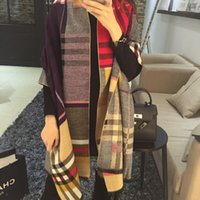 Wholesale Classic British double sided color lattice cashmere scarf super thick shawl female dual use autumn and winter models