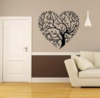 Wholesale Love tree living room bedroom background decoration Wall Stickers Parlor Vinyl Art Bedroom Home Decor Mural Decal