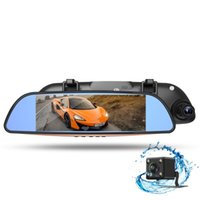 armed car navigation - car dvr inch HD screen rearview mirror style driving recorder driving safety warning system navigation hot sales