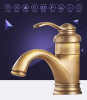 Wholesale DHL European style design Full copper antique teapot faucet single hole retro design wash basin hot and cold water faucet
