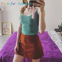 Atacado- Mulheres Crochet Bralette Knit Bra Boho Praia Bikini Halter Crop Top Tank Cami