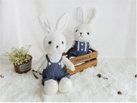 Wholesale plush doll lovely rabbit doll children gift white rabbit
