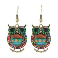 Wholesale New Indian Jewelry Lovely Owl Drop Earrings