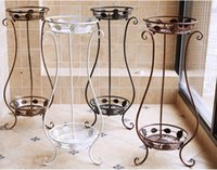 antique planter - NEW Flower Pot Plant Shelf Stand Antique Imitation European Style Wrought Iron Planter Shelves Four Colors Available