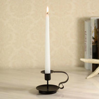 Wholesale 1 Holders Iron Candlestick Home Wedding Decoration Candle Holder Hand Made Metal Candle Stand Iron Crafts