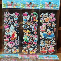 Wholesale Fashion Brand Kids Toys Cartoon sticker Mickey and Minnie D Stickers Children girls boys Stickers Bubble Stickers