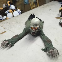 animated zombie - Crawling Zombie Animated Prop Scary Halloween Decoration