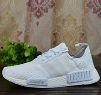 art packing - 2017 Adidas Originals NMD Runner R1 Mesh Triple White Cream Pack Men Women Running Shoes Sneakers Hot Sale Fashion Runner Primeknit With Box