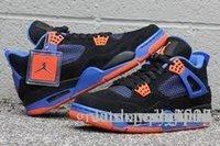 Air Jordan 4 Retro Cavs - Negro / Seguridad Orange-Juego Royal Jordnas Retros 4s Cavs 308497 027 Zapatos Deportivos Con Original Box