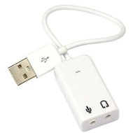 Wholesale Hot Sale USB Virtual Channel Audio usb Sound Card Adapter For win7 xp PC Laptop Mac
