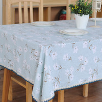 Wholesale Table Cloth cm Square Table Linens Refreshing Japanese Style Home Textiles MOQ Psc