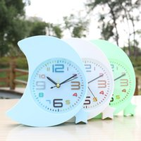 Wholesale Creative fashion stars the moon small alarm clock Study of environmental protection practical bathroom plastic table clock Boys girls gifts