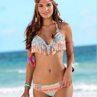 Hot gril sexy bikini Mujeres Ruffled acolchados Beach Sunbath Swimwear SW82