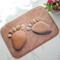 Wholesale fashion stone imprint coral fleece newest bed sofa tea table galley kitchen carpet oil absorption stain resistant mat