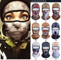 Wholesale 100pcs Hot New D Animal Face Mask Outdoor Sports Cap Bicycle Cycling Fishing Motorcycle Masks Skullies Beanies Face Mask CK1073
