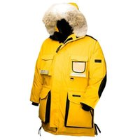 arctic white - Fast Shipping Canada Brand Mens Snow Mantra Coats Heli Arctic Jackets Duck Down Thick Warm Fur Collar Winter Windproof Hooded Outdoor Coats