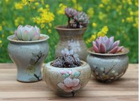 ancient ceramic pots - Meat meat meat more small ceramic flower pot specials coarse pottery mini meaty plant pot contracted creative Chinese wind restoring ancient