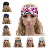 bandana headband girl - Women Headbands Bohemia Fabric Print Sport Hairband Fashion Yoga Stretch Headbands Lady Girl Turban Bandana Head Wrap Hair Accessories F274
