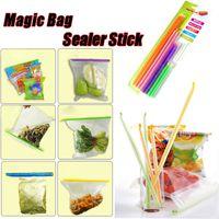 Wholesale Magic Bag Sealer Stick Clips Unique Sealing Rods Keeps food fresh Longer Food Storage Pack sizes
