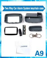 Wholesale New two way car alarm system remote control Starlionr LCD A9 Case keychain for Starlionr A9 remote controller
