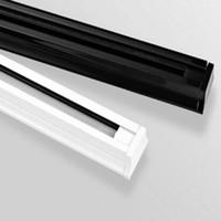 aluminum end caps - LED track light rail spotlight light track white black aluminum with end cap track of light