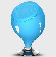 bathroom floor lighting - New Arrival Cute Waterproof IPX6 Bluetooth Speaker Bathroom Stereo Mini Portable Speaker With Shining Light Cellphone Holder