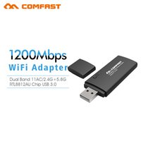 b w laptop - 1200Mbps W fi Dongle COMFAST CF AC G GHz Dual Band Wireless Adapter ac USB WIFI ADAPTER Network Card