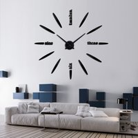 Wholesale Hot large D diy wall clock home decor living room watch horloge Quartz Needle clocks brief mirror watch