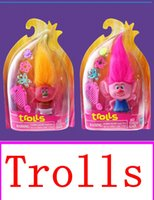 Wholesale 2016 latest movie Trolls vinyl Action Figures Toys For Kids Christmas Gift package Anime Figurines Kids Toys for Boys Girls