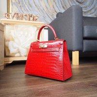 Wholesale KORRALAA fashion K elly cm ck95 Braise Crocodile Leather with Gold Palladium Hardware handbag Luxury Women Bag
