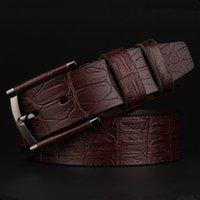 Wholesale men luxury belts Cowboy Genuine Leather belt mens leather belts with buckle belts for dresses
