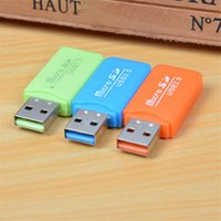 Wholesale HOT Epacket High Speed USB Micro SD card T Flash TF M2 Memory Card Reader adapter gb gb gb gb gb gb TF Card