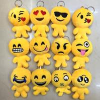 Wholesale Fun QQ expression doll plush toys creative emoji human face expression key chain pendant pendant